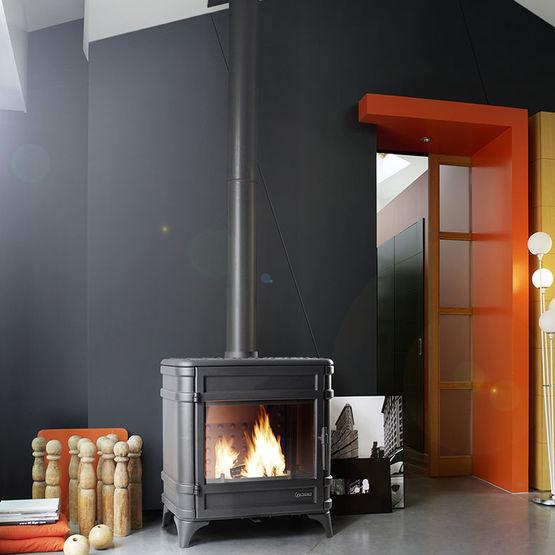 siam po le bois en fonte 12 kw post combustion et grand volume. Black Bedroom Furniture Sets. Home Design Ideas
