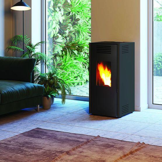 vasto 9 po le granul s 9 kw air chaud ventil. Black Bedroom Furniture Sets. Home Design Ideas