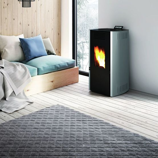 tratto 9 po le granul s de bois 9 kw air chaud ventil. Black Bedroom Furniture Sets. Home Design Ideas