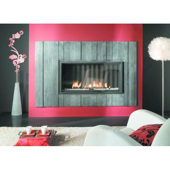 po le chemin e gaz fa ade en pierre calcaire venlo chemin es de chazelles. Black Bedroom Furniture Sets. Home Design Ideas