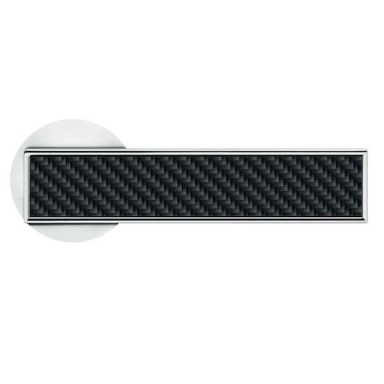 R Torino Poignées De Portes Design Finition Nickel Sur Rosace - Poignées de portes
