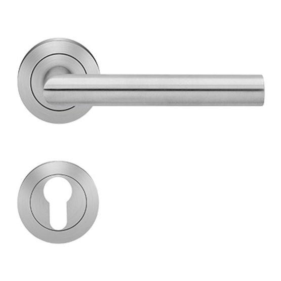 Poign es inox pour portes standard cat gorie d 39 utilisation 3 ou 4 er28 rhodes karcher design - Poignee de porte a relevage ...