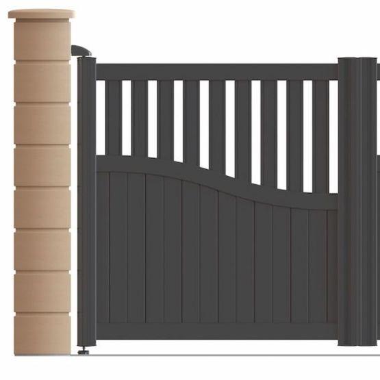 portail aluminium battant ou coulissant avec remplissage semi plein. Black Bedroom Furniture Sets. Home Design Ideas