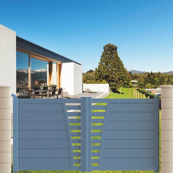Portail Aluminium Battant Ou Coulissant Avec Remplissage Semi Plein