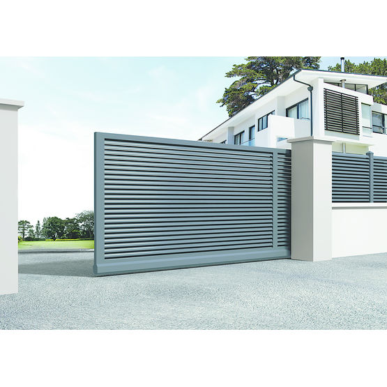 Portail 5 m coulissant portail coulissant 5m le - Portail aluminium battant ...