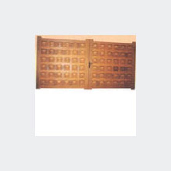 Portail et portillon caisson en bois dur rothe fermetures for Portillon bois exterieur