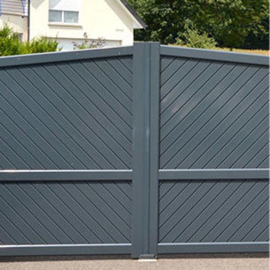 portail haut de gamme remplissage aluminium portail. Black Bedroom Furniture Sets. Home Design Ideas