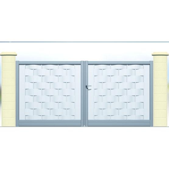 Portail Plein Droit Ou Cintre En Lames D Aluminium Tressees Metis Cetal