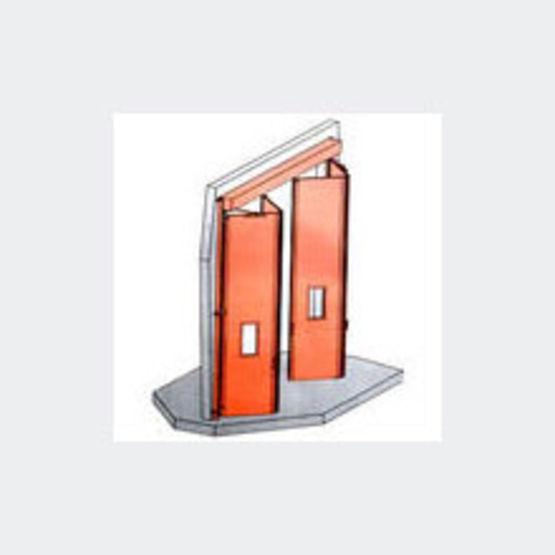 Porte accord on man uvre manuelle ou motoris e celyx baumert industrie - Porte de garage accordeon ...