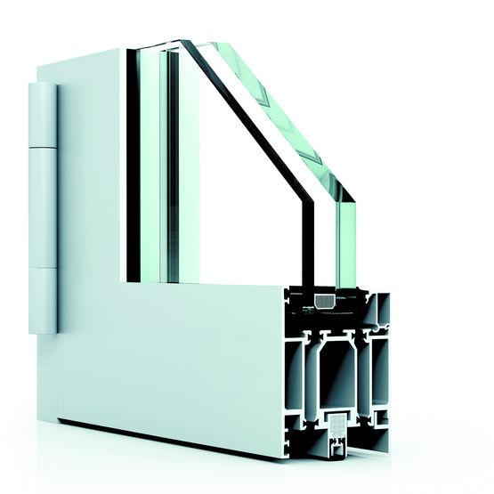 Porte aluminium coupe feu ei 30 wicona sapa building for Porte coupe feu 60 cm