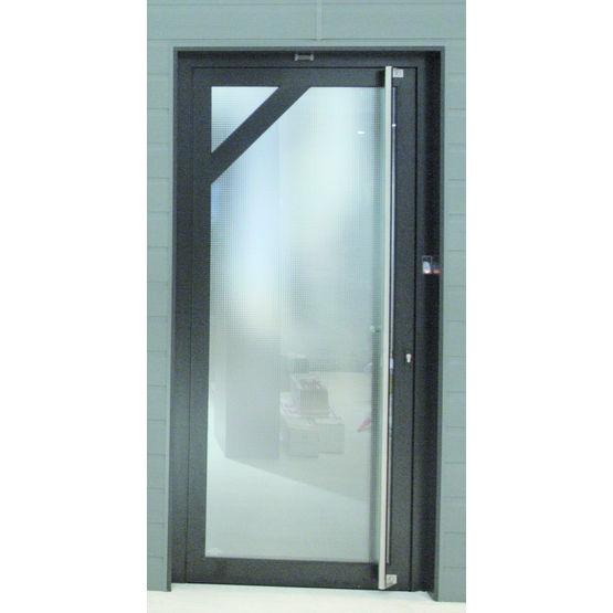 Porte biom trique en aluminium avec cam ra vid o porte for Porte ads 60