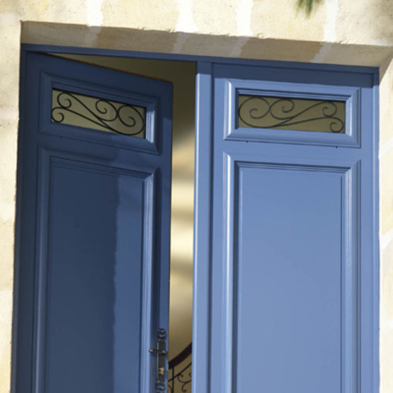 porte bois de grande hauteur avec imposte vitr majorelle bel 39 m. Black Bedroom Furniture Sets. Home Design Ideas