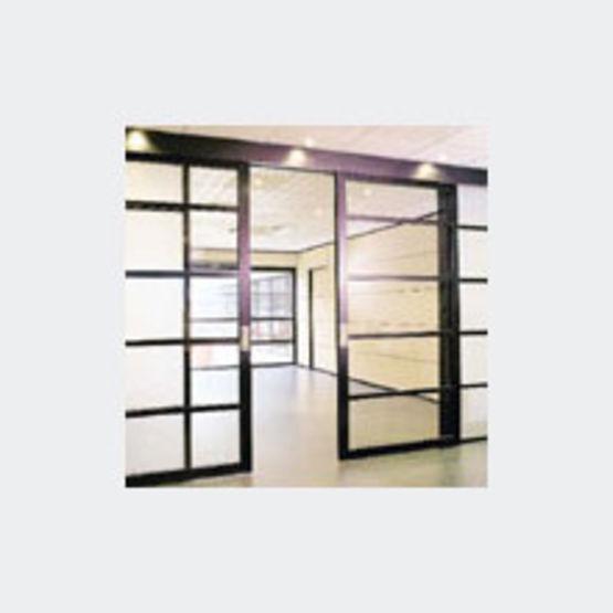 Porte coulissante cadre aluminium clipper - Portes coulissantes aluminium ...