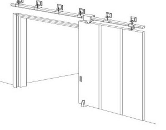 porte coulissante de grandes dimensions cf et pf deux. Black Bedroom Furniture Sets. Home Design Ideas