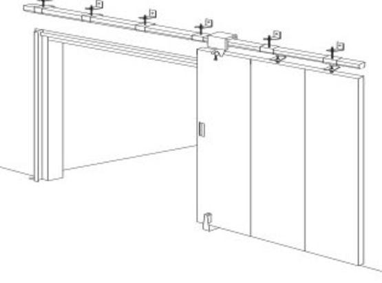 Porte coulissante en acier cf et pf deux heures c2 portafeu - Fabricant porte coupe feu ...