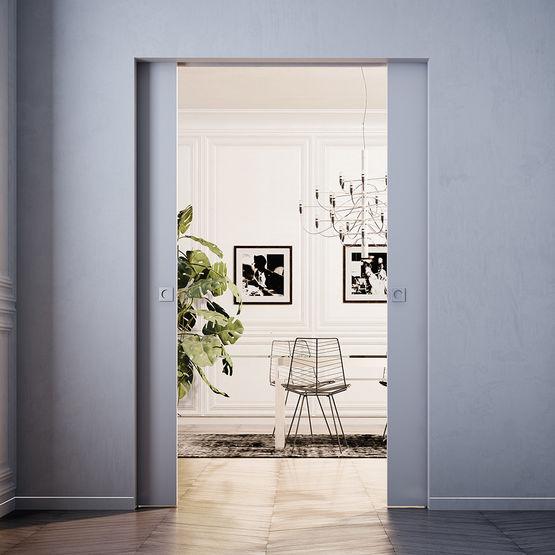 Porte coulissante sans habillage eclisse - Kit habillage porte coulissante ...