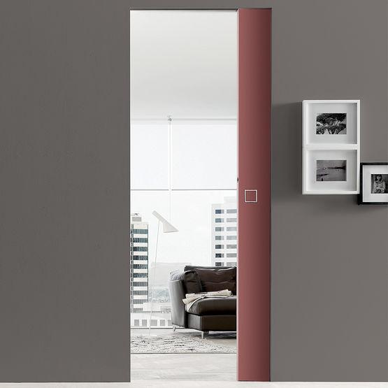 Porte coulissante sans habillage syntesis line eclisse - Kit habillage porte coulissante ...