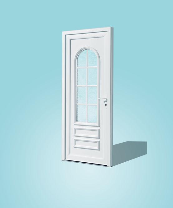 Porte d 39 entr e panneaux en pvc personnalisable prefal for Acheter porte d entree