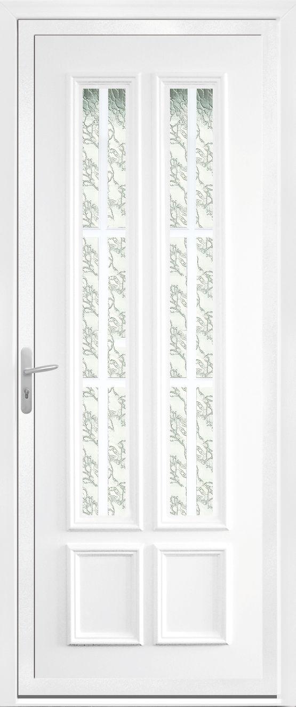 Porte d 39 entr e panneaux en pvc personnalisable portes for Panneaux pvc exterieur