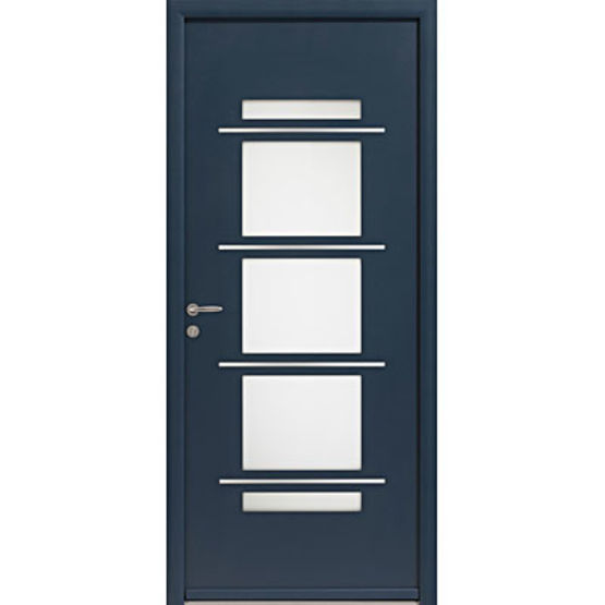 Porte d 39 entr e aluminium contemporaine zilten for Porte entree alu contemporaine