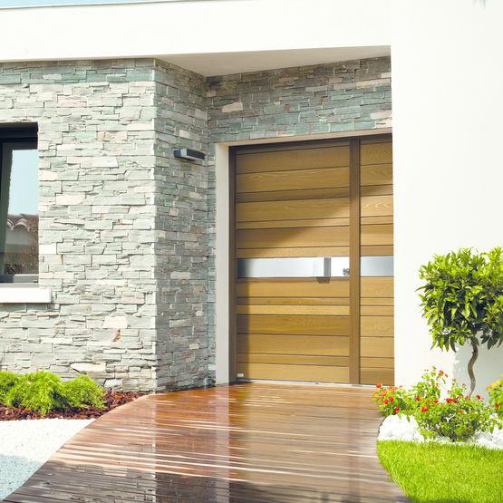 Porte d 39 entr e design en red cedar nativ 2 zilten for Portes principales bois