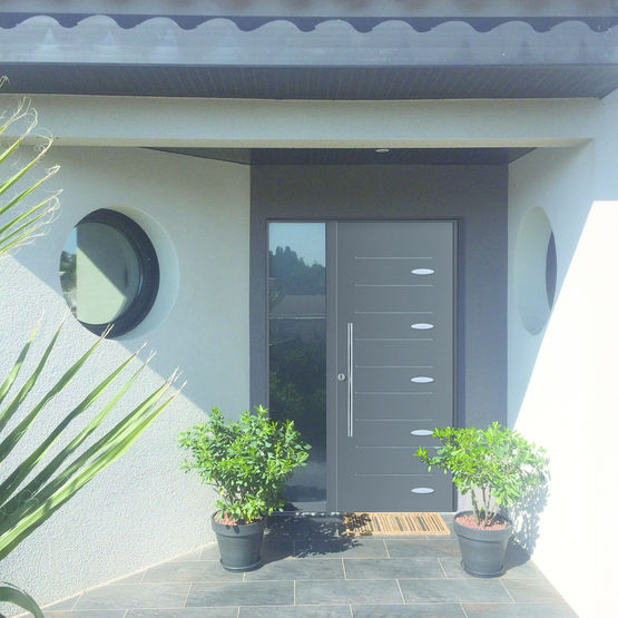 Porte d 39 entr e en acier isolation thermique int gr e mab - Porte entree appartement isolation phonique ...