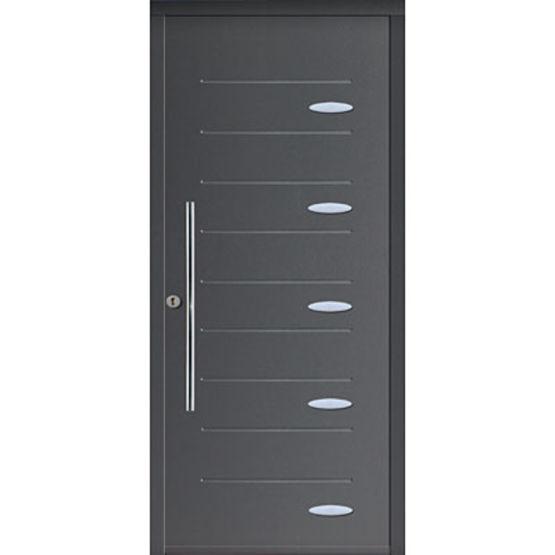 Porte d 39 entr e en acier isolation thermique int gr e mab for Isolation porte entree appartement