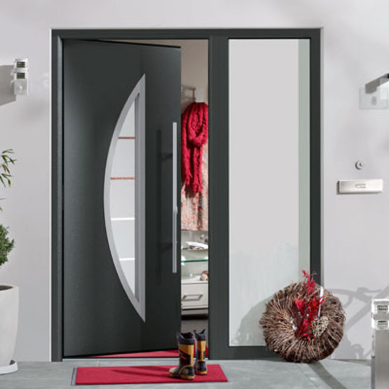 porte d 39 entr e en acier isolation thermique int gr e thermo65 h rmann. Black Bedroom Furniture Sets. Home Design Ideas