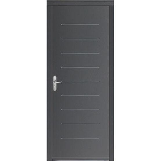 Porte d 39 entr e en acier laqu isolation thermique for Porte d entree a2p