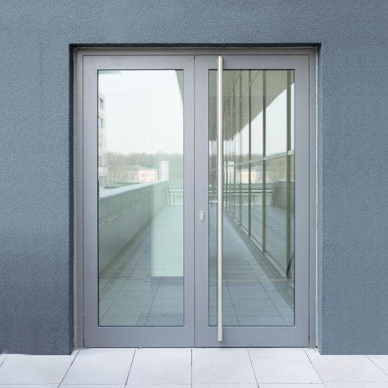 porte d 39 entr e en aluminium rupture de pont thermique sch co. Black Bedroom Furniture Sets. Home Design Ideas