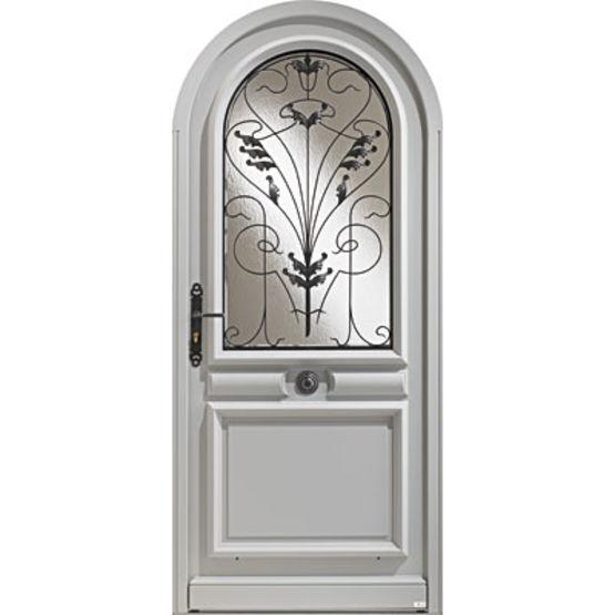 porte d 39 entr e en bois haute performance avec partie vitr e zilten. Black Bedroom Furniture Sets. Home Design Ideas
