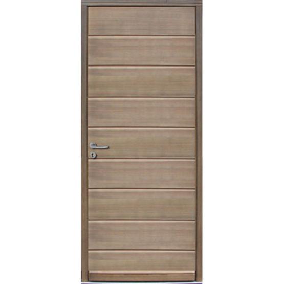 Porte d 39 entr e en bois massif isolation thermique int gr e gavarnie - Isolation phonique porte entree ...