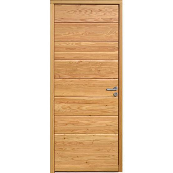 Porte d 39 entr e en bois massif isolation thermique for Porte bois exterieur