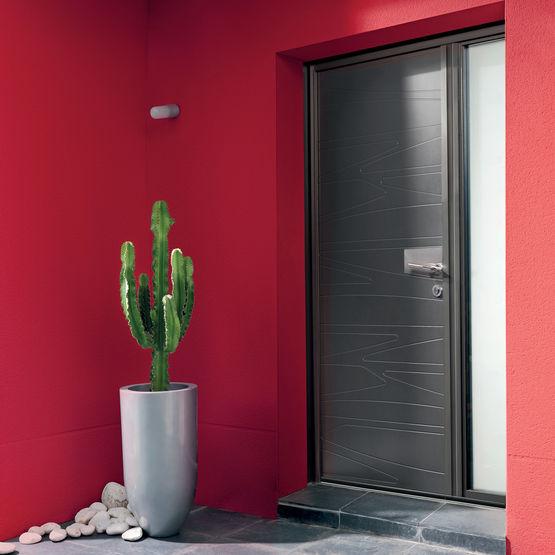 porte d 39 entr e isolante d cor monolytique k line granit k line. Black Bedroom Furniture Sets. Home Design Ideas