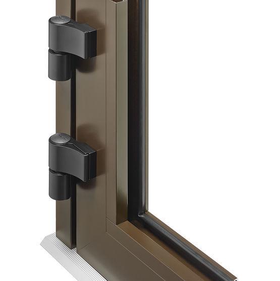 Porte d 39 entr e lourde en aluminium protech prefal - Charniere pour porte lourde ...