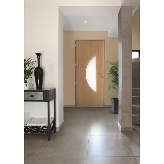 Porte d 39 entr e mixte bois aluminium atlantide duo zilten - Porte d entree alu bois ...