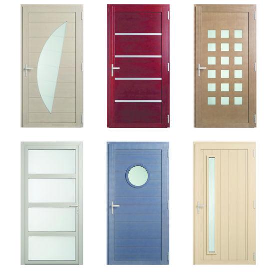 Porte d 39 entr e mixte bois aluminium en six mod les minco for Porte d entree minco
