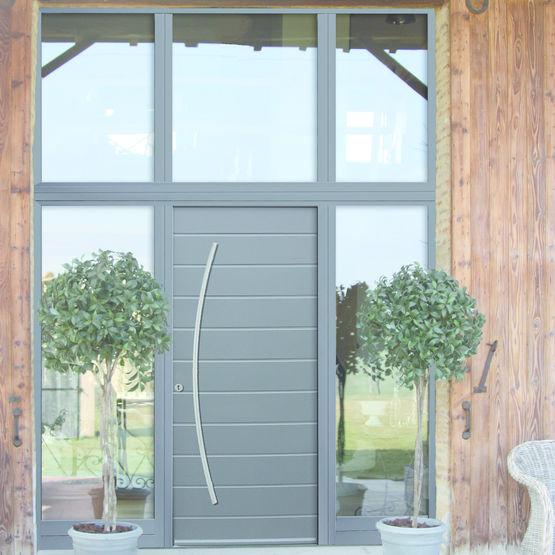 Porte d 39 entr e mixte bois et aluminium mab - Portes d entree aluminium ...