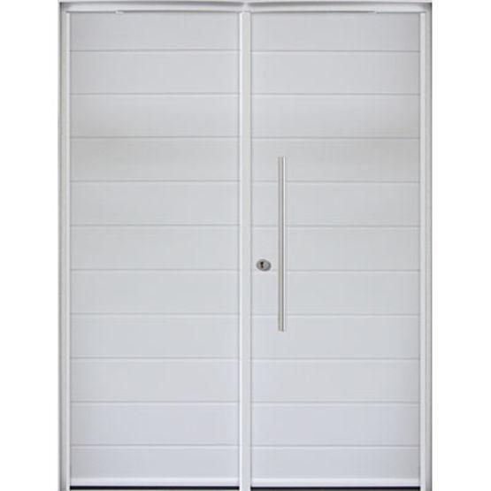 Porte d'entrée mixte bois et aluminium | ADEO - MAB