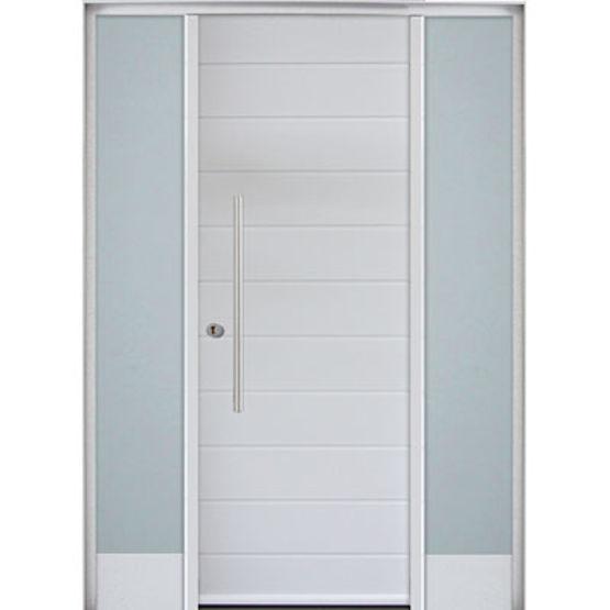 Porte d 39 entr e mixte bois et aluminium adeo mab for Portes principales bois