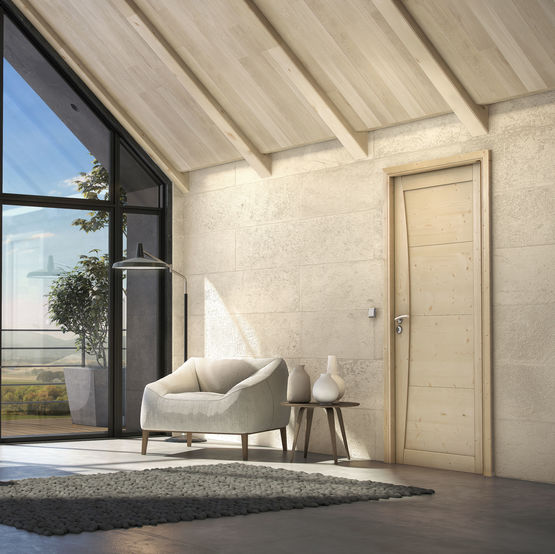 Mistral porte d 39 int rieur en bois massif au style scandinave for Interieur scandinave bois
