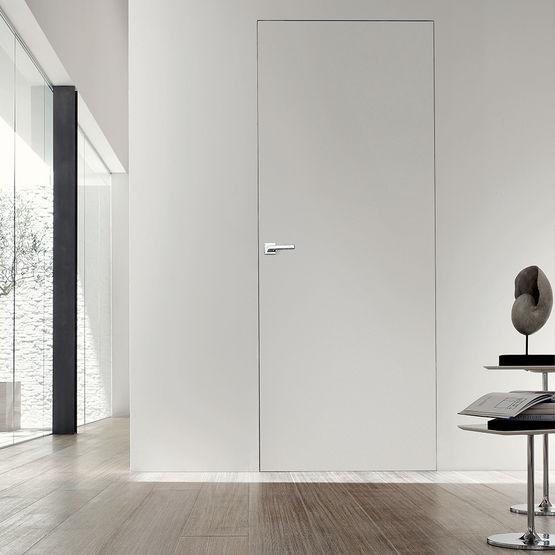 porte d 39 int rieur sous tenture affleurante syntesis. Black Bedroom Furniture Sets. Home Design Ideas
