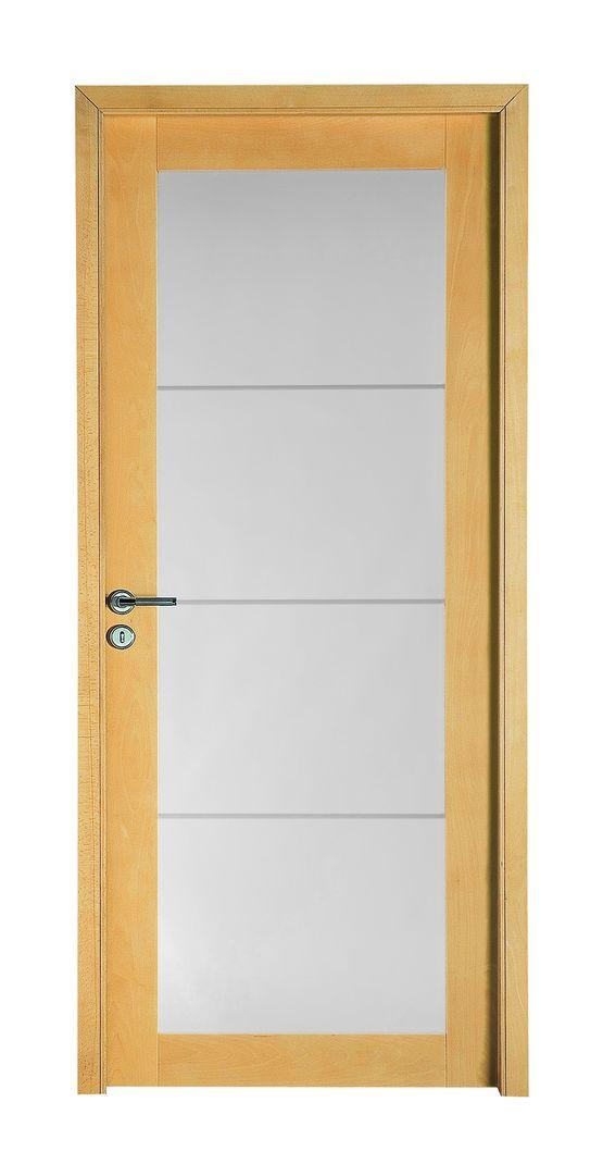 Bora ch ne bloc porte en ch ne clair bross et vitrage - Bloc porte interieur vitree ...