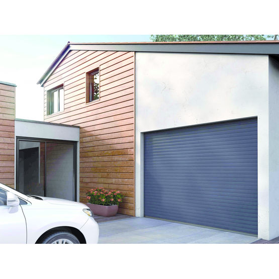 Porte de garage enroulement en aluminium double paroi for Double porte de garage