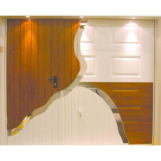 porte de garage basculante d bordante ou non lara. Black Bedroom Furniture Sets. Home Design Ideas