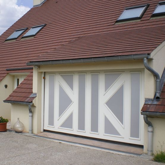 Porte de garage basculante non d bordante et autoportante m lodia safir - Porte de garage basculante non debordante tubauto ...