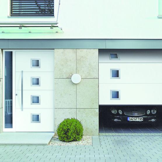 lpu 42 porte de garage en acier double paroi. Black Bedroom Furniture Sets. Home Design Ideas