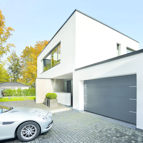 Porte de garage isol e en acier double ou triple rainure portes de garage sectionnelles lpu - Porte garage double ...