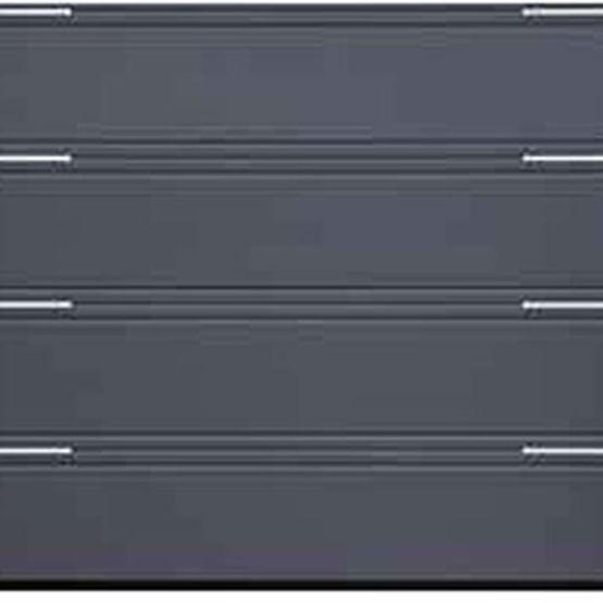 porte de garage isol e en acier double ou triple rainure portes de garage sectionnelles lpu. Black Bedroom Furniture Sets. Home Design Ideas