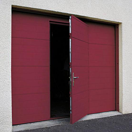 porte de garage sectionnelle isol e refoulement plafond carsec pro soprofen. Black Bedroom Furniture Sets. Home Design Ideas
